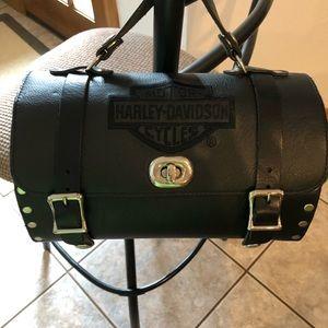 Harley-Davison Barrel Bag. Never used.